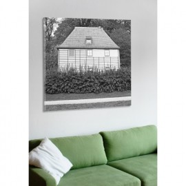 designersgroup - Leinwanddruck schwarz-weiß mit Weimar-Motiv: Goethes Gartenhaus - Druck auf Leinwand im Format 50 x 50