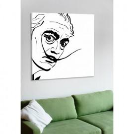 designersgroup - Leinwanddruck schwarz-weiß mit Grafik-Motiv: Salvador Dali - Druck auf Leinwand im Format 50 x 50