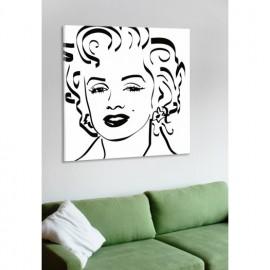 designersgroup - Leinwanddruck schwarz-weiß mit Grafik-Motiv: Marilyn Monroe - Druck auf Leinwand im Format 50 x 50