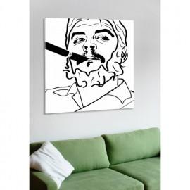 designersgroup - Leinwanddruck schwarz-weiß mit Grafik-Motiv: Che Guevara - Druck auf Leinwand im Format 50 x 50