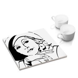 designersgroup - dg-selection Untersetzer - bekannte Schauspieler: Greta Garbo