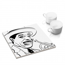 designersgroup - dg-selection Untersetzer - bekannte Musiker: Louis Armstrong