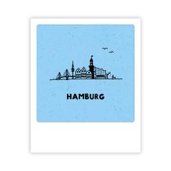 Pickmotion - Mini Pics - kleine Grußkarte - 90x110mm - Hamburg