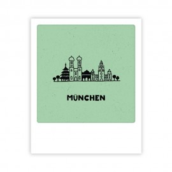 Pickmotion - Mini Pics - kleine Grußkarte - 90x110mm - München