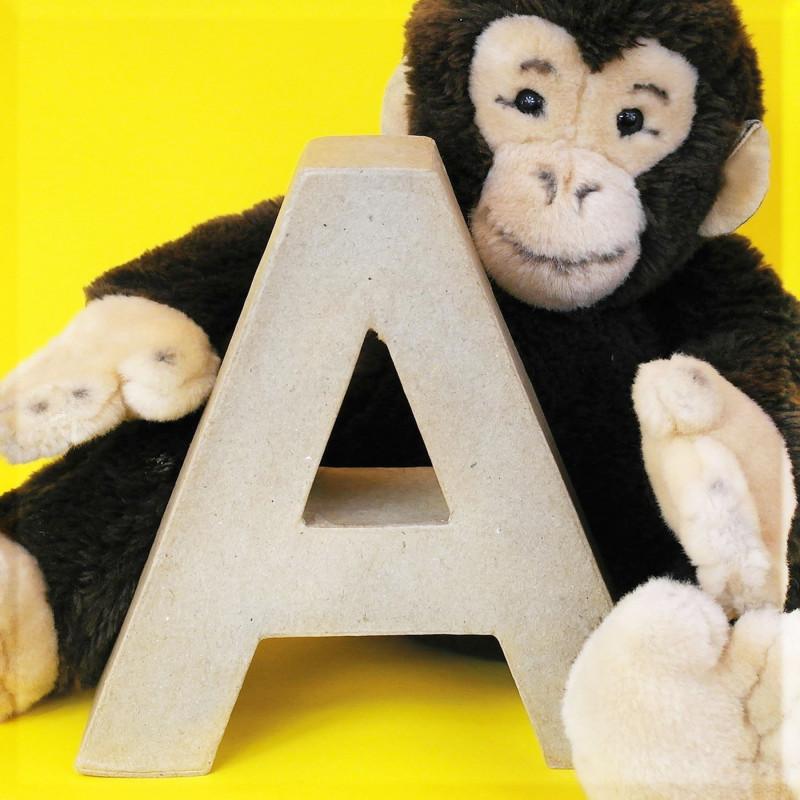 ABCebra Magnet A wie AFFE - gelb