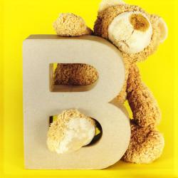 ABCebra Magnet B wie BÄR - gelb