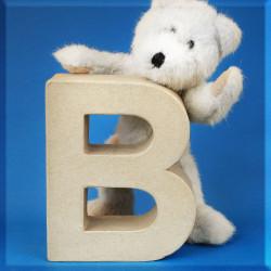 ABCebra Magnet B wie BÄR - blau
