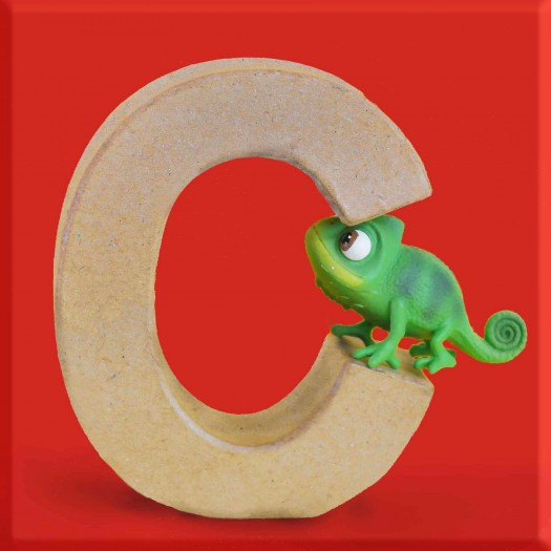ABCebra Magnet C wie CHAMÄLEON - rot