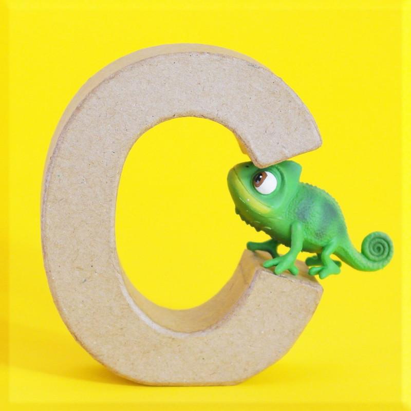 ABCebra Magnet C wie CHAMÄLEON - gelb