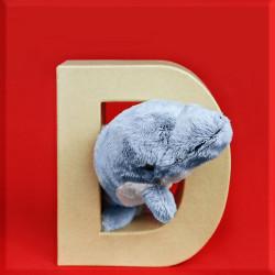 ABCebra Magnet D wie DELPHIN - rot