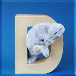 ABCebra Magnet D wie DELPHIN - blau