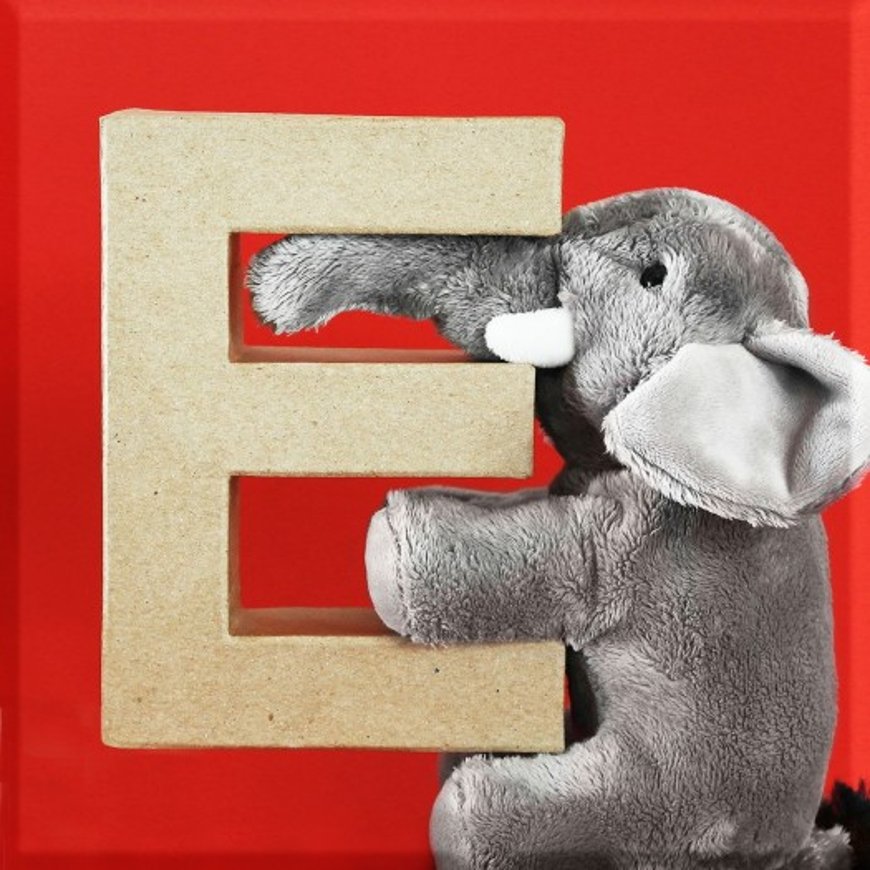 ABCebra Magnet E wie ELEFANT - rot