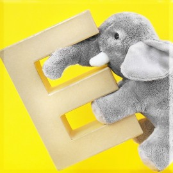 ABCebra Magnet E wie ELEFANT - gelb