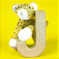 ABCebra Magnet J wie JAGUAR - gelb