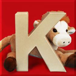 ABCebra Magnet K wie KUH - rot