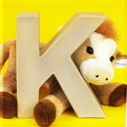 ABCebra Magnet K wie KUH - gelb