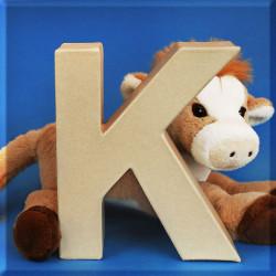 ABCebra Magnet K wie KUH - blau