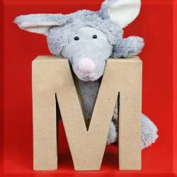 ABCebra Magnet M wie MAUS - rot