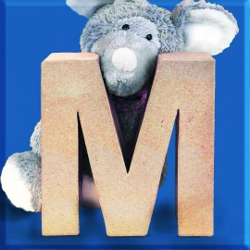ABCebra Magnet M wie MAUS - blau