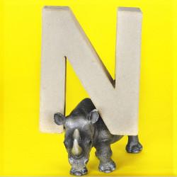 ABCebra Magnet N wie NASHORN - gelb