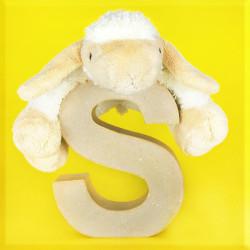 ABCebra Magnet S wie Schaf - gelb