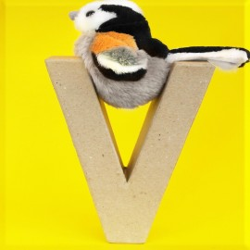 ABCebra Magnet V wie Vogel - gelb