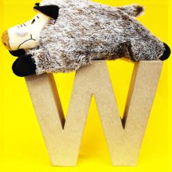 ABCebra Magnet W wie Wildschwein - gelb