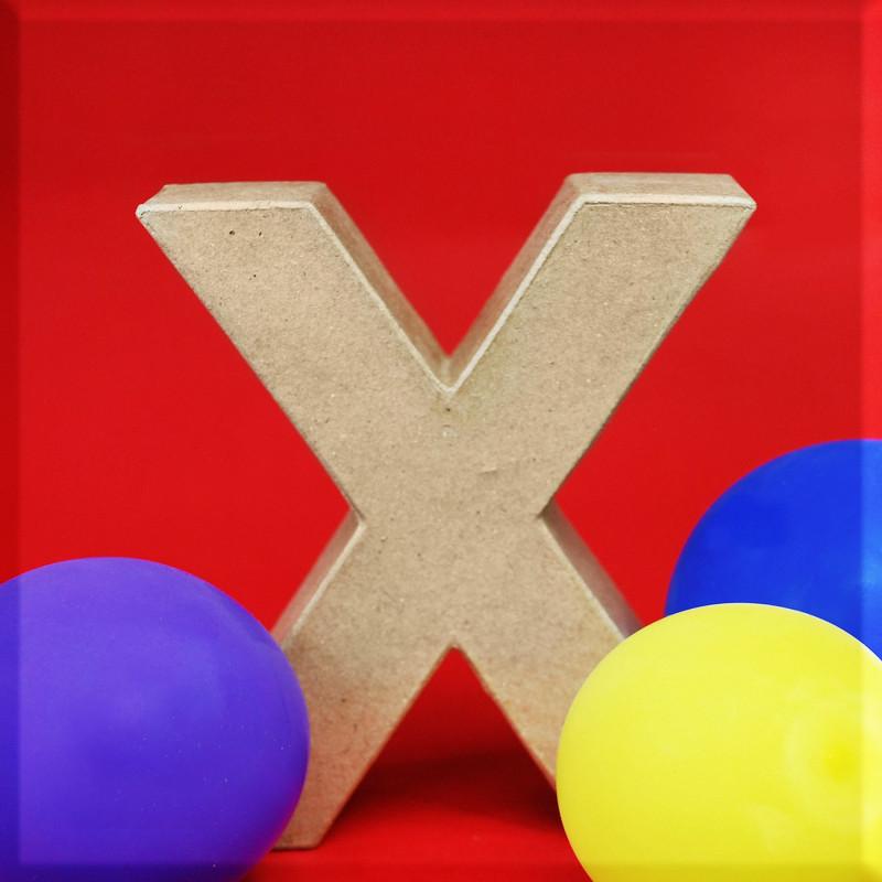 ABCebra Magnet X wie Xaver - rot