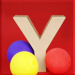 ABCebra Magnet Y wie Yvonne - rot