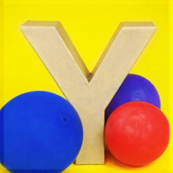 ABCebra Magnet Y wie Yvonne - gelb
