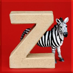 ABCebra Magnet Z wie Zebra - rot