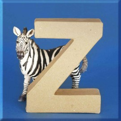 ABCebra Magnet Z wie Zebra - blau