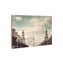 Michael Belhadi - Wooden block - 29 Frankfurter Tor