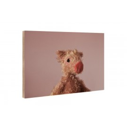 Kleine Freunde - Wooden Block - 10x15 cm - Rosalie
