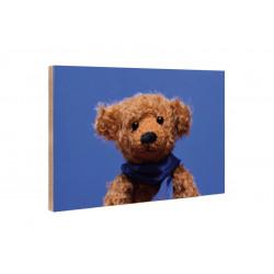 Kleine Freunde - Wooden Block - 10x15 cm - Bear