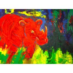 KRL-ART - Druck auf Canvas - Rhinozeros