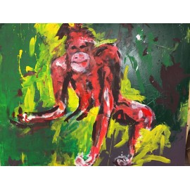 KRLART - Print on Canvas - Monkey