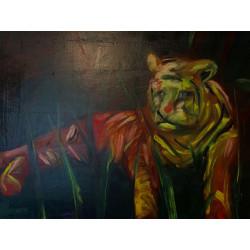 KRLART - Druck auf Canvas - Tiger