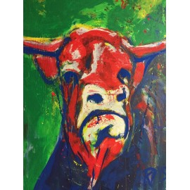 KRLART - Print on Canvas - Bull 03