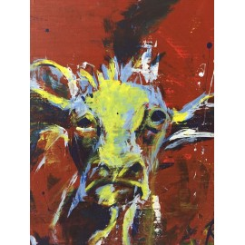 KRLART - Print on Canvas - Cow
