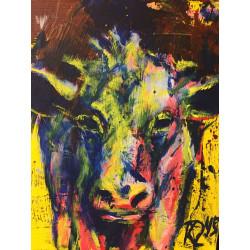 KRLART - Druck auf Canvas - Kuh 3