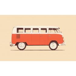 Florent Bodart - Druck auf Aludibond - 02 Red Van