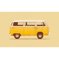 Florent Bodart - Druck auf Aludibond - 03 Yellow Van