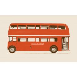 Florent Bodart - Druck auf Aludibond - Roter London Bus