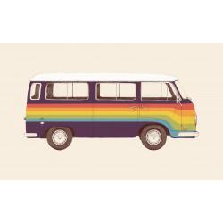 Florent Bodart - Druck auf Aludibond - 04 Rainbow Van