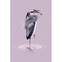 Dieter Braun - Print on Aludibond - 22 Gray Heron