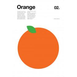 Nick Barclay - Print on Aludibond - Fruit Collection - 02 Orange