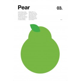 Nick Barclay - Print on Aludibond - Fruit Collection - 03 Pear