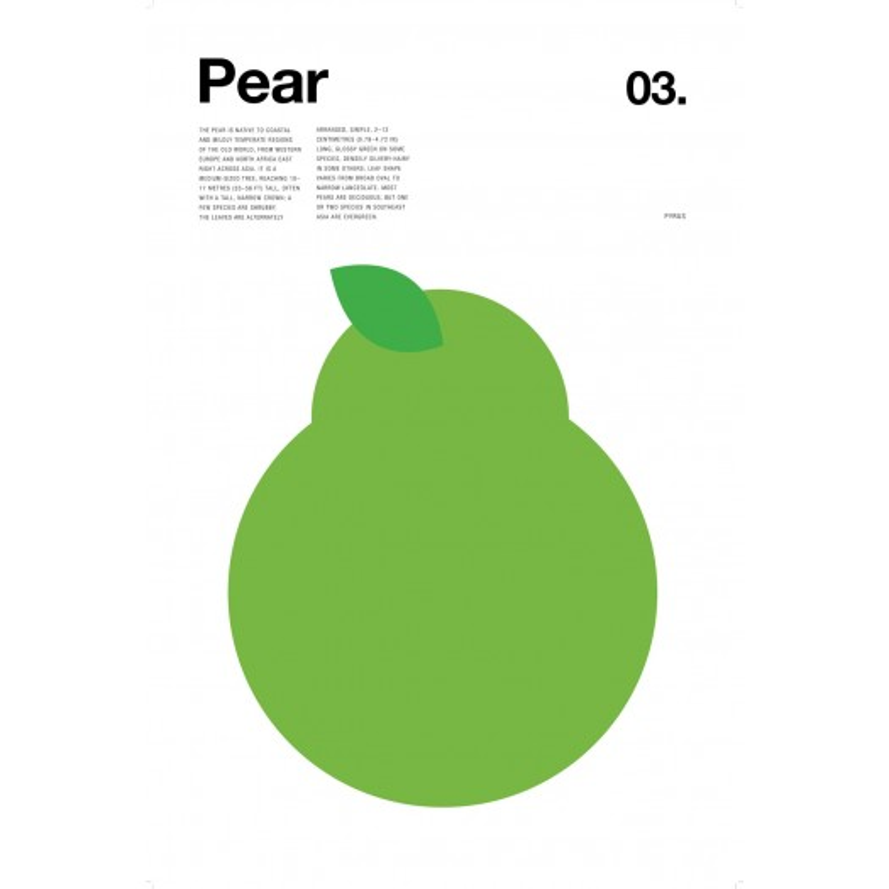 Nick Barclay - Print on Aludibond - Fruit Collection - 03 Pear