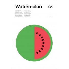 Nick Barclay - Druck auf Aludibond - Fruit Collection - 05 Wassermelone
